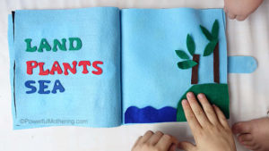 Creation: Land, Plants & Sea- No Sew Quiet Book for Toddlers