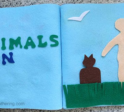 Creation: Animals & Man – No Sew Quiet Book for Toddlers