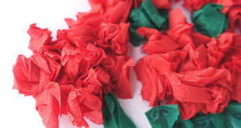 rose tissue paper flowers