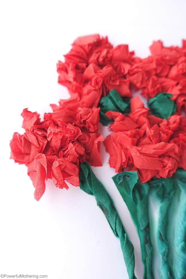 crepe paper flower cards