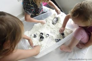 sensory bin fix for the day