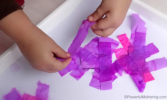 tissue paper valentines craft