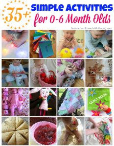 35+ Simple Activities for 0-6 Month Olds on Powerfulmothering.com