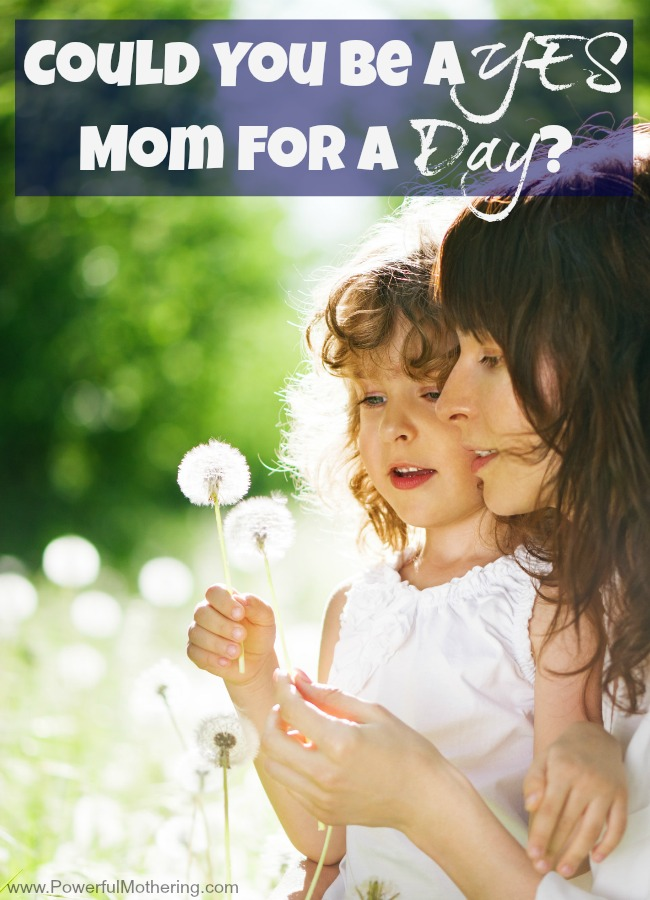 Could You be a YES Mom for a Day