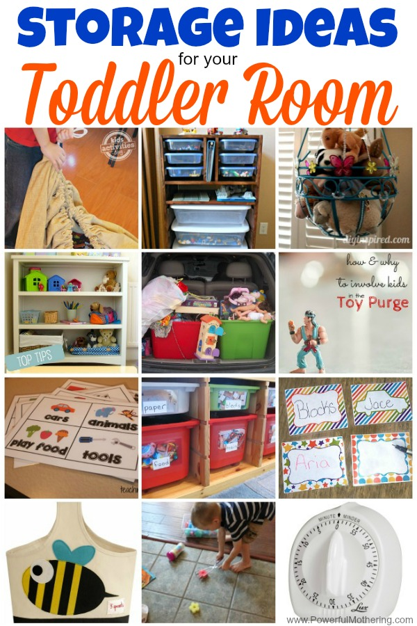 Storage Ideas For Your Toddler Room from PowerfulMothering.com