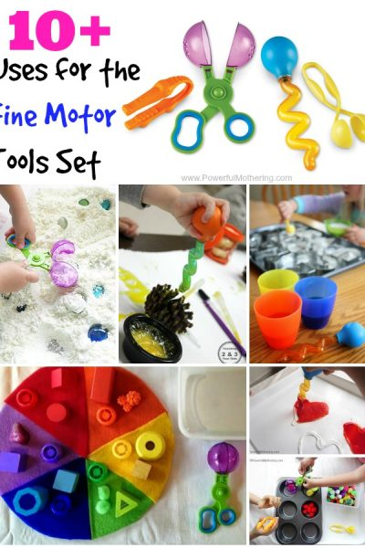 Uses for the Fine Motor Tools Set on PowerfulMothering.com