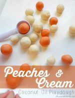 Peaches & Cream Coconut Oil Playdough