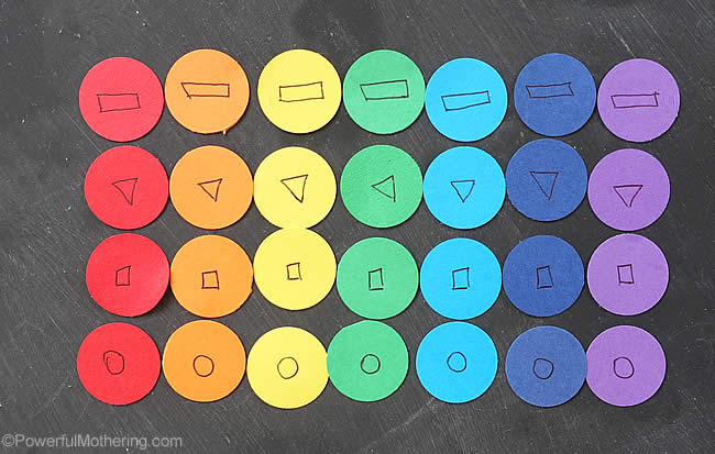 rainbow patterning with shapes