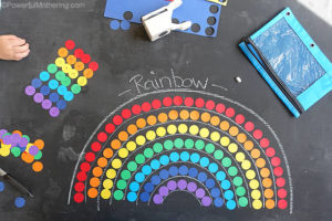 rainbow shapes and counting busy bag