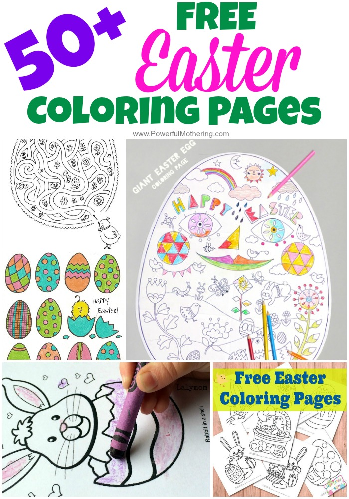 50 plus FREE Easter Coloring Pages