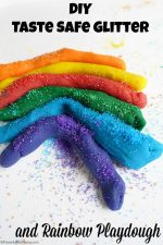 DIY Taste Safe Glitter and Rainbow Playdough