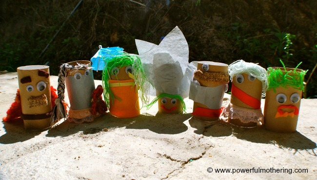 DIY art and craft kids recycled dolls