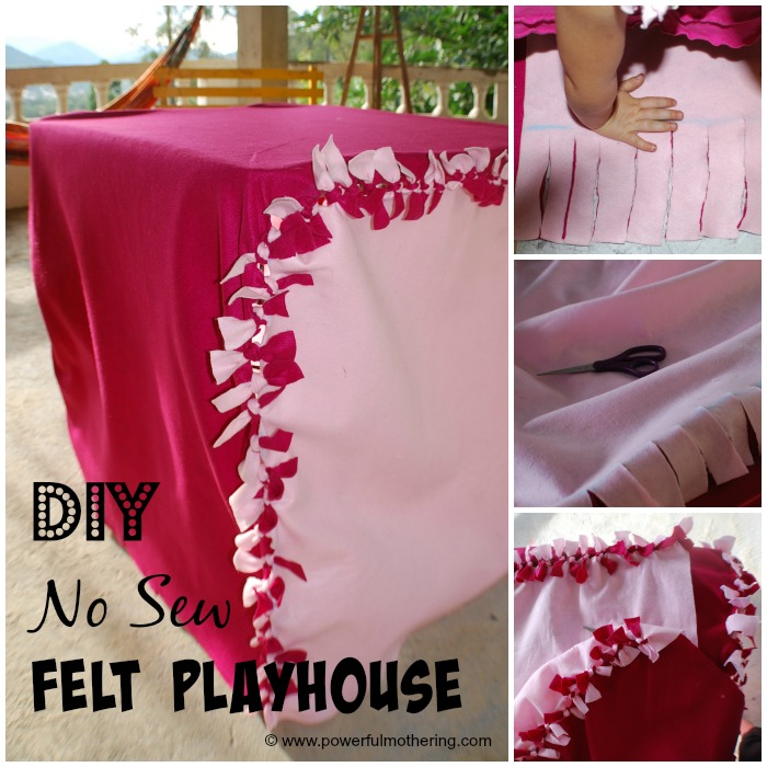 Diy no sew fet playhouse steps