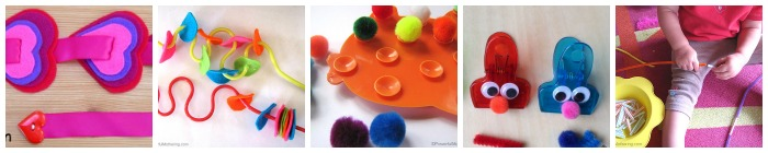 Fine motor busy bags toddlers