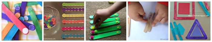 Popsicle craft stick busy bags fine motor skills