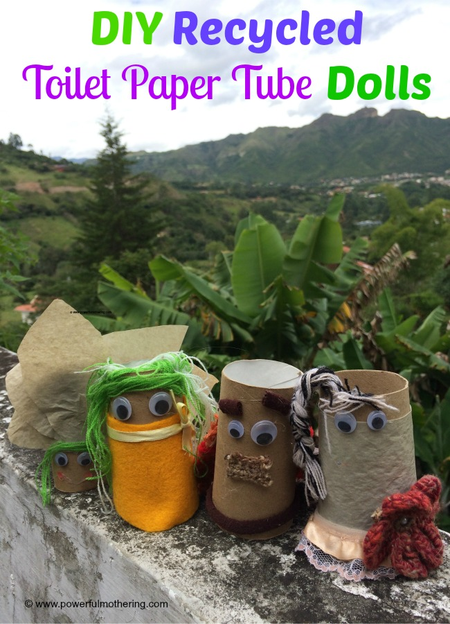 Diy recycled toilet paper tube dolls for Recycling toilet paper tubes