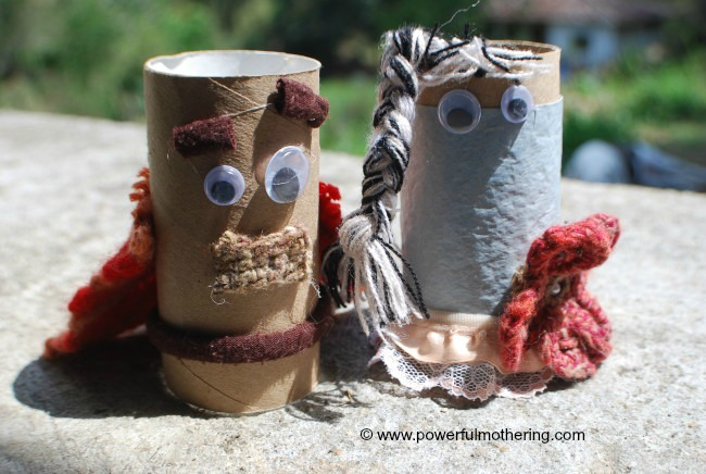 Toilet Paper tube dolls recycle craft