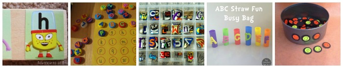 alphabet and abc busy bag ideas