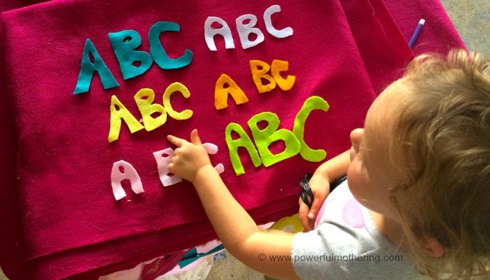 early learning felt letters abc
