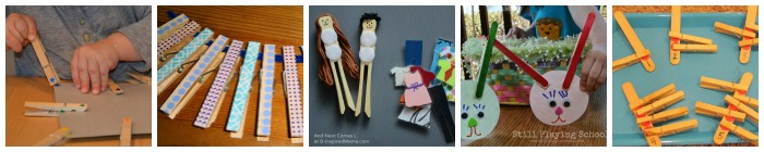 fine motor busy bags clothespins