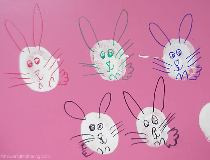 finger print bunnies