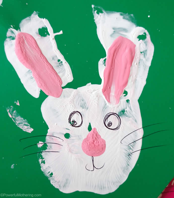 hand print easter ideas