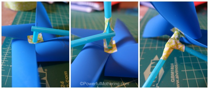 how to make a tail for your pin wheel