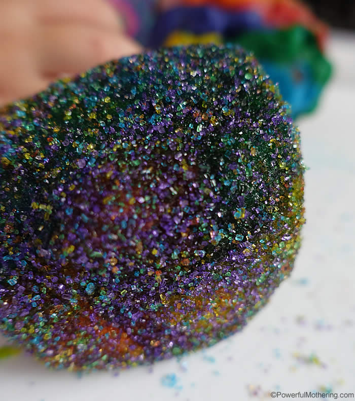 mixed sparkly dough ball