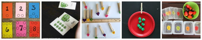 numbers busy bag fine motor ideas