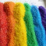 rainbow of taste safe diy glitter