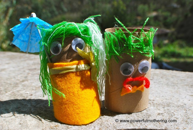 recycle kids craft toilet paper tube dolls