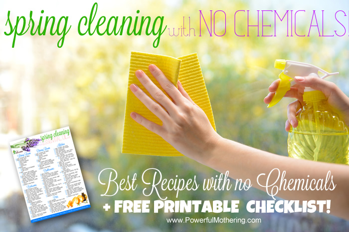 spring cleaning with no checmicals and checklist