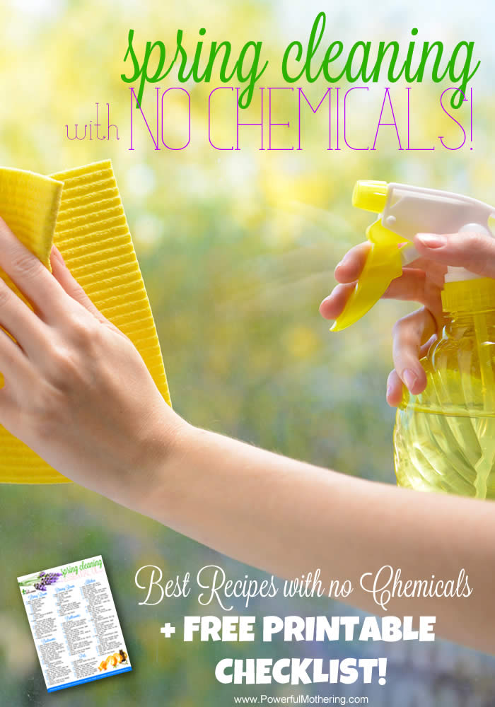 spring cleaning with no chemicals from powerful mothering