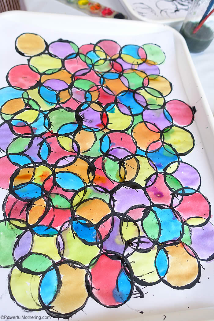 Stained Glass Art with Toilet Paper Rolls. My kiddos would love this!
