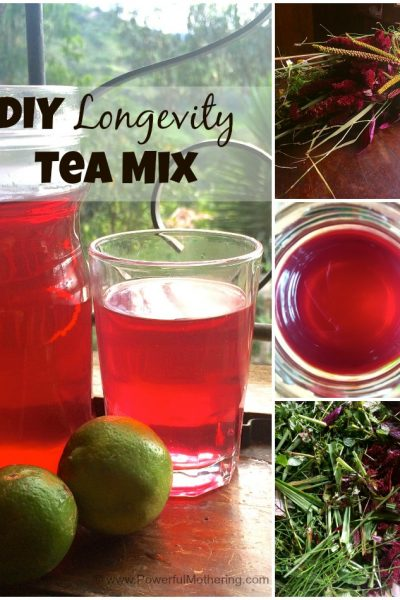 DIY Longevity Tea Mix + Fun Tea Time Activity for Kids