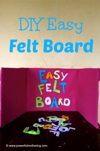 DIY easy felt board preschooler