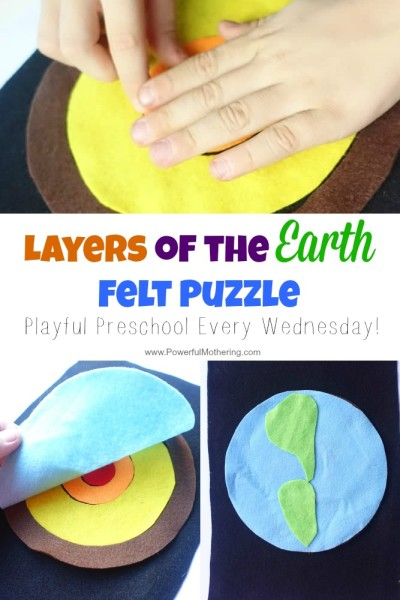 Layers of the Earth Felt Puzzle