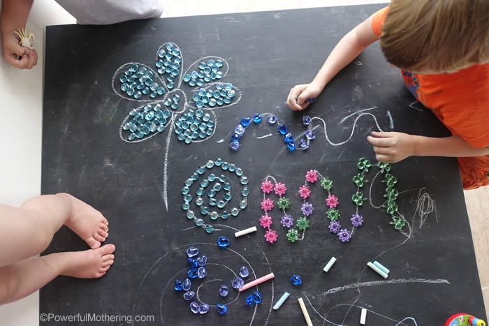 chalkboard table activity