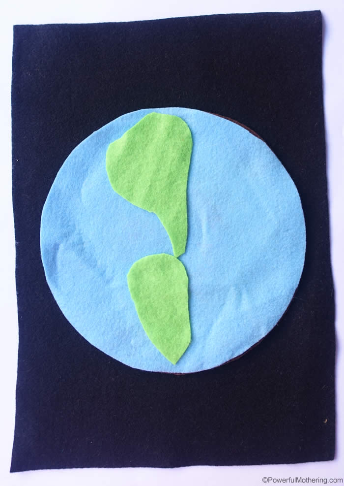 felt layers of the earth preschool puzzle