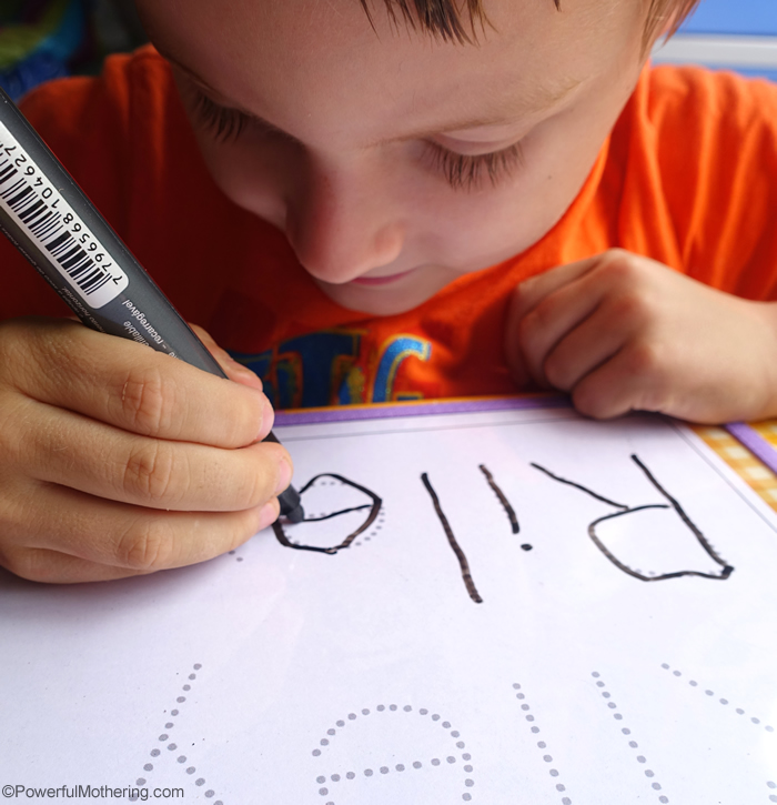 learn to write name preschool