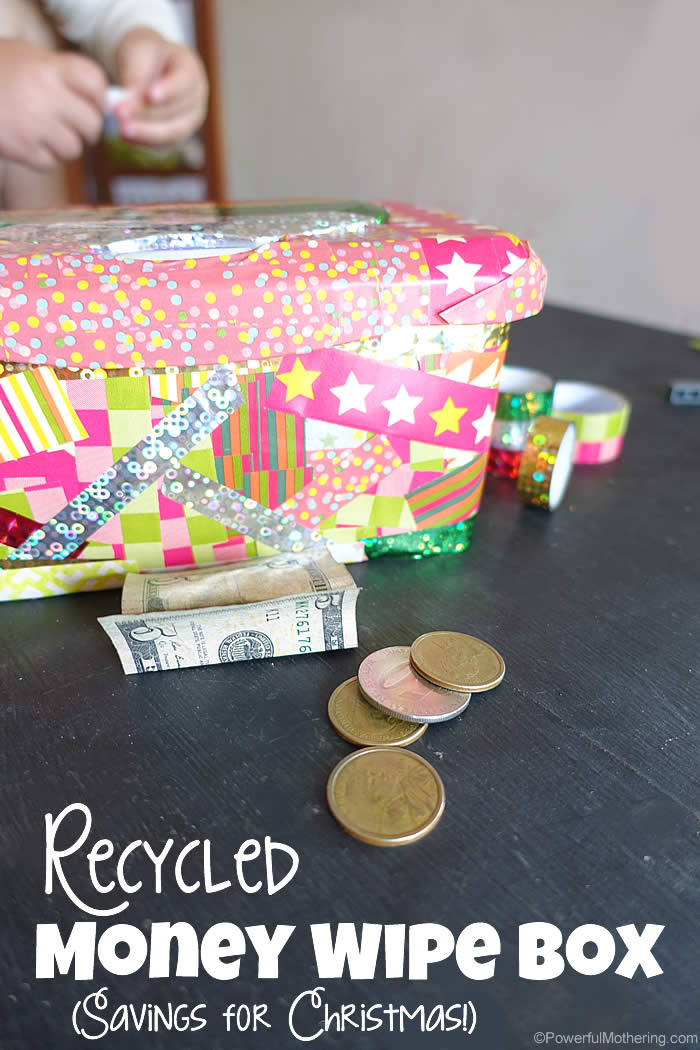Recycled money wipe box for Awesome money box