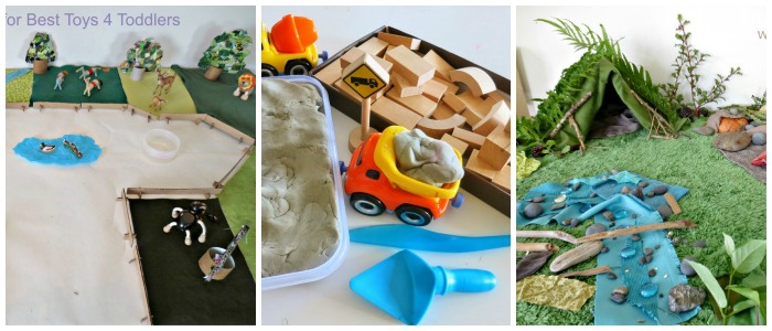 small worlds for fine motor skills and loose parts