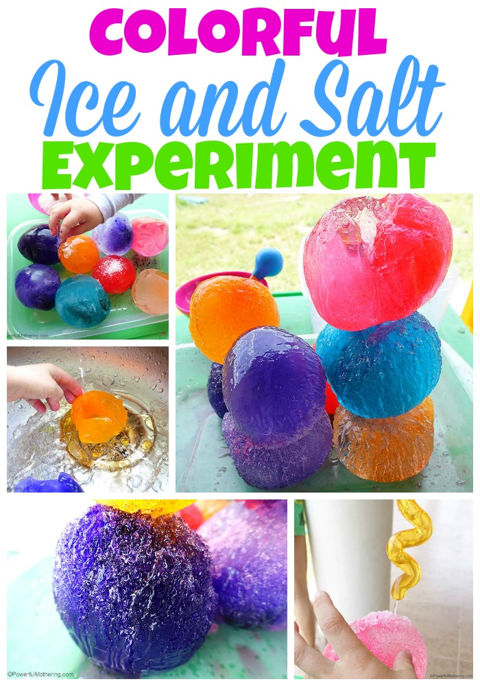 Colorful Ice and Salt Experiment