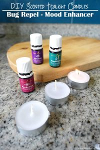 DIY Scented Tealight Candles bug repellent mood enhance