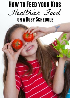 How to Feed your Kids Healthier Food on a Busy Schedule