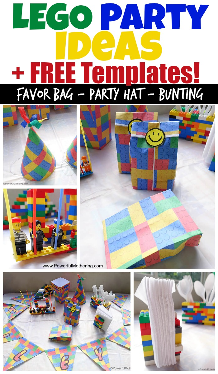 Birthday Party Ideas and FREE Lego Templates – Lego Party Invitations Printable