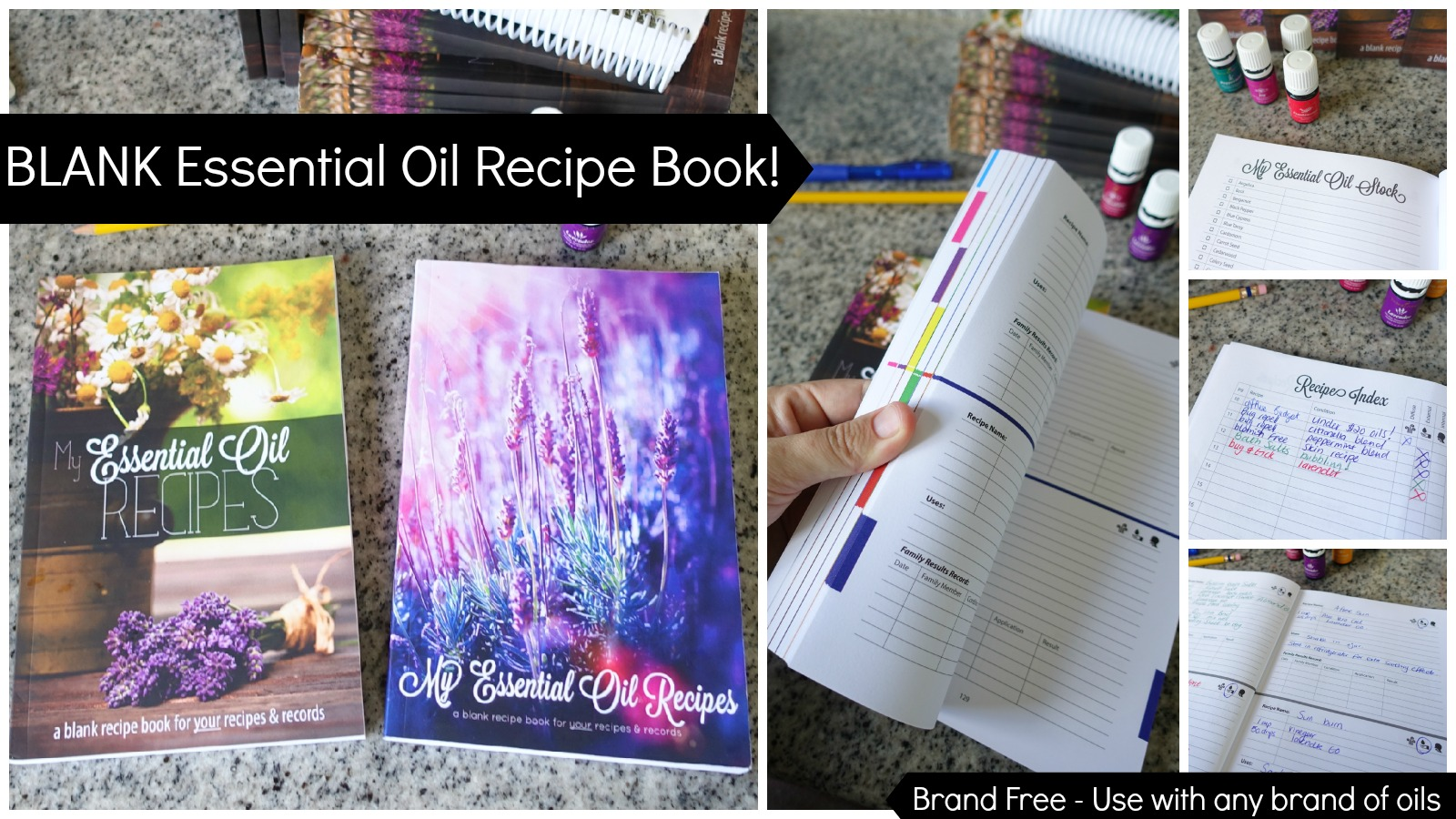 Blank Essential Oils Recip Book