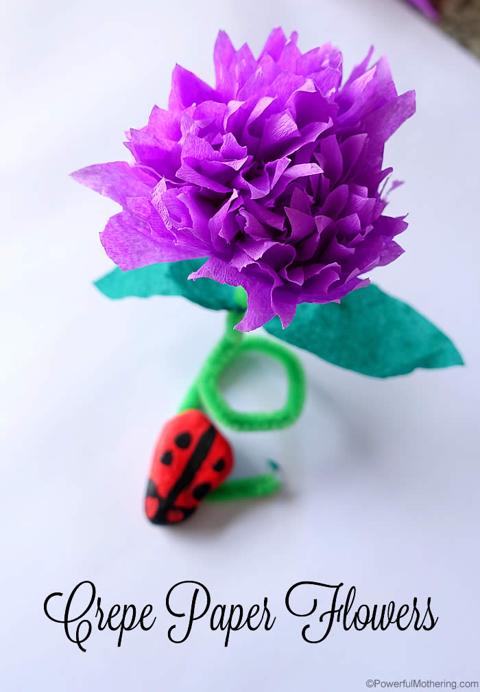 Crap paper flower vatozozdevelopment how to make crepe paper flowers video tutorial mightylinksfo