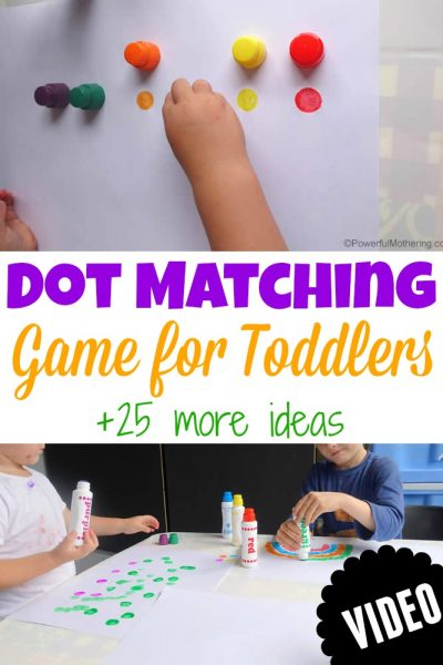 dot matching game for toddlers dot a dot