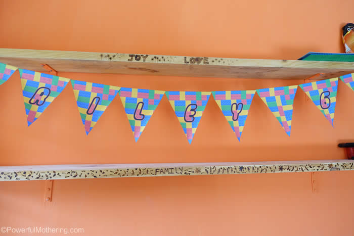 free lego bunting for party